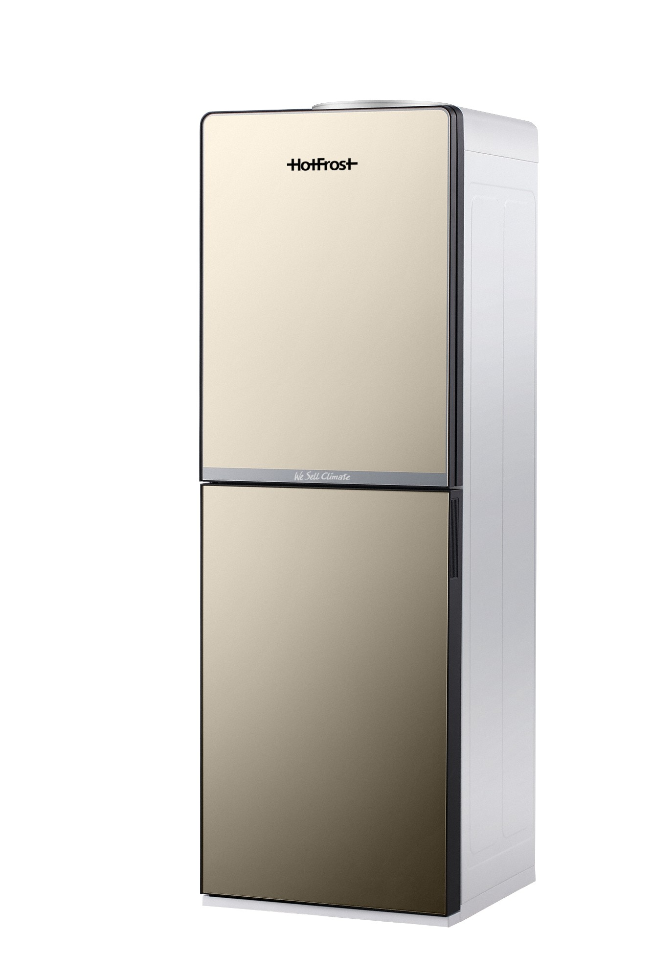 Напольный кулер для воды HotFrost V250CE Gold со встроенным шкафчиком