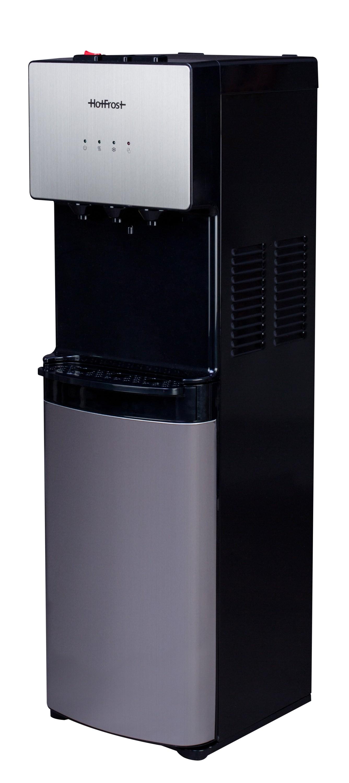 Напольный кулер для воды HotFrost V400BS с холодильником