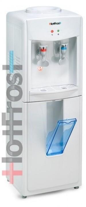 Напольный кулер для воды HotFrost V118 с отделением для стаканчиков